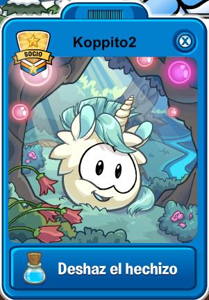 puffle unicornio blanco player card